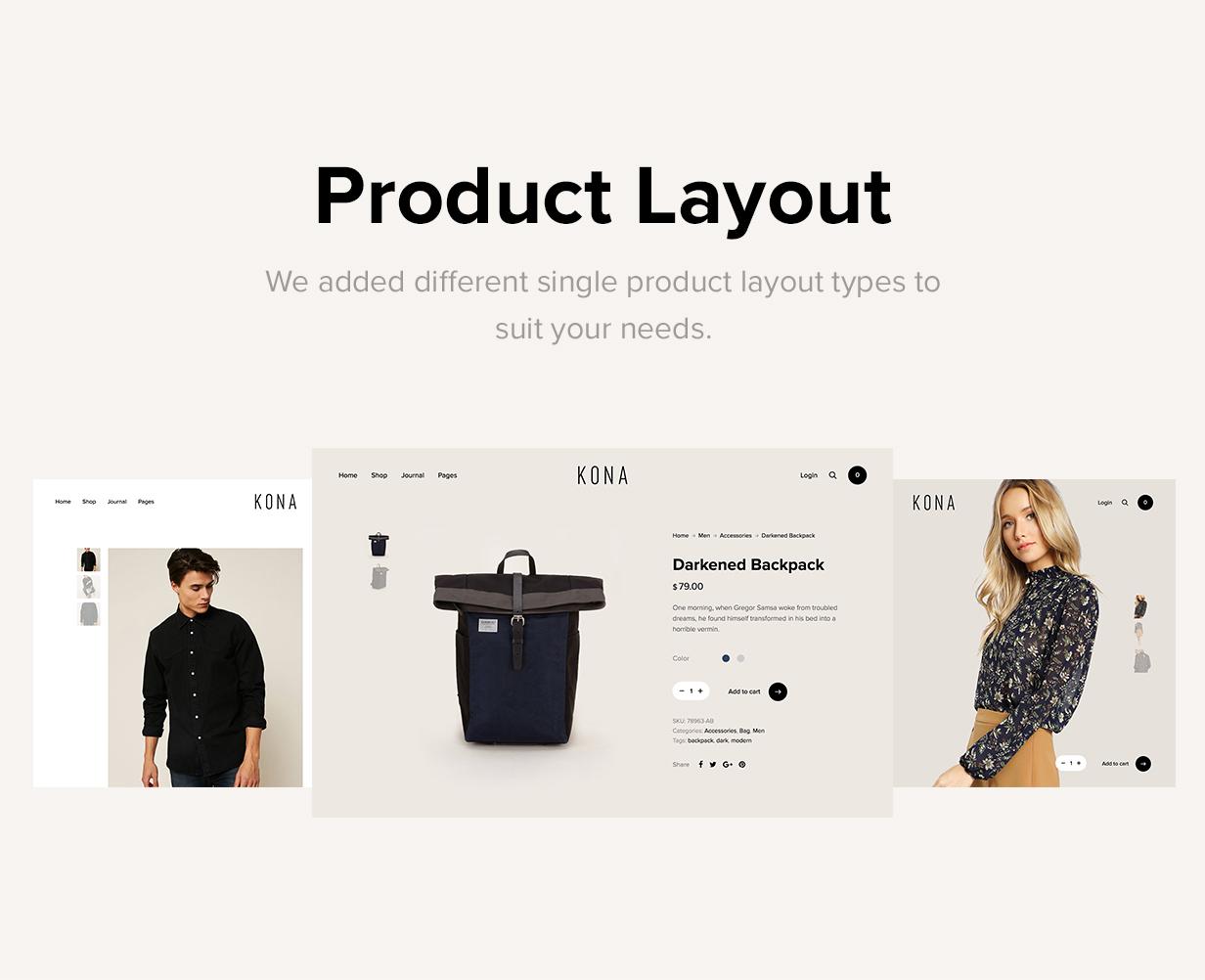 Kona - Modern & Clean eCommerce WordPress Theme - 12