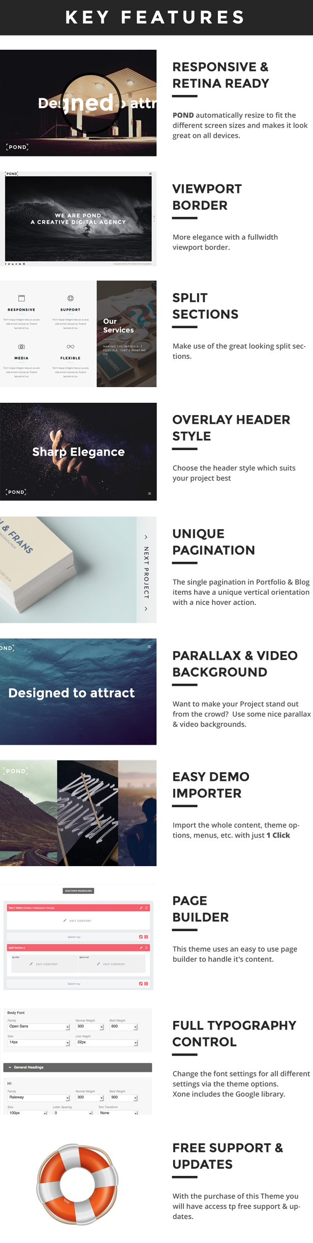 WordPress theme Pond - Creative Portfolio / Agency WordPress Theme (Portfolio)