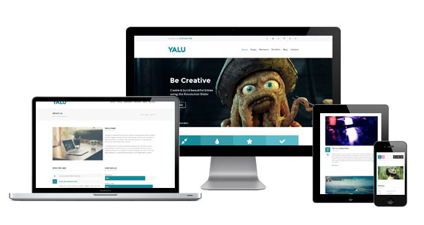 Yalu - Creative Multipurpose Template - WordPress