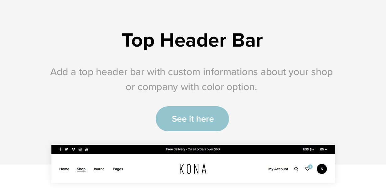 Kona - Modern & Clean eCommerce WordPress Theme - 5