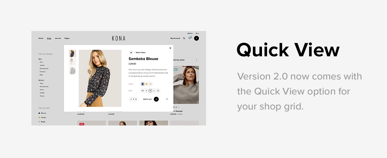 Kona - Modern & Clean eCommerce WordPress Theme - 6